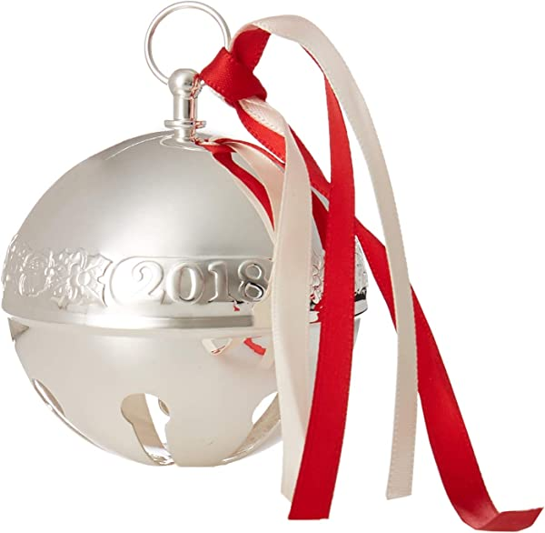 Wallace 2018 Sleigh Bell Silver Plated Christmas Holiday Ornament 48th Edition