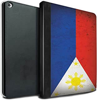 eSwish PU Leather Book/Cover Case for Apple iPad Pro 12.9 2017/2nd Gen Tablets/Philippines/Filipino Design/Asian Flag Collection