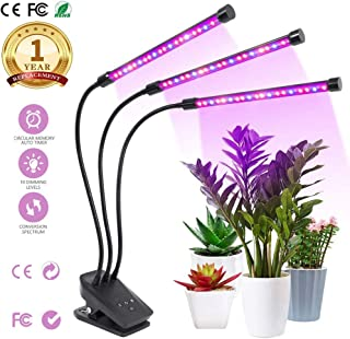 Plants Grow Light,2019 Newest Plant/Led Grow Lights for Indoor Plants,Super Bright 100 LEDs Sunlike Full Spectrum Grow Lamp, Dual Head Gooseneck Desk Plant Light with 2-Switch, Replaceable Bulb