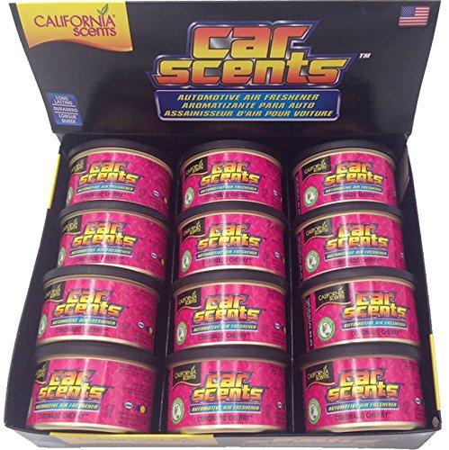California Scents Car Scents Coche Aromas de aire Ambientador - Coronado Cherry - 12 Unidades