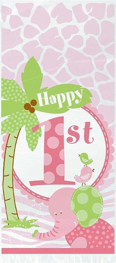 Pink Safari First Birthday Cellophane Bags, 20ct