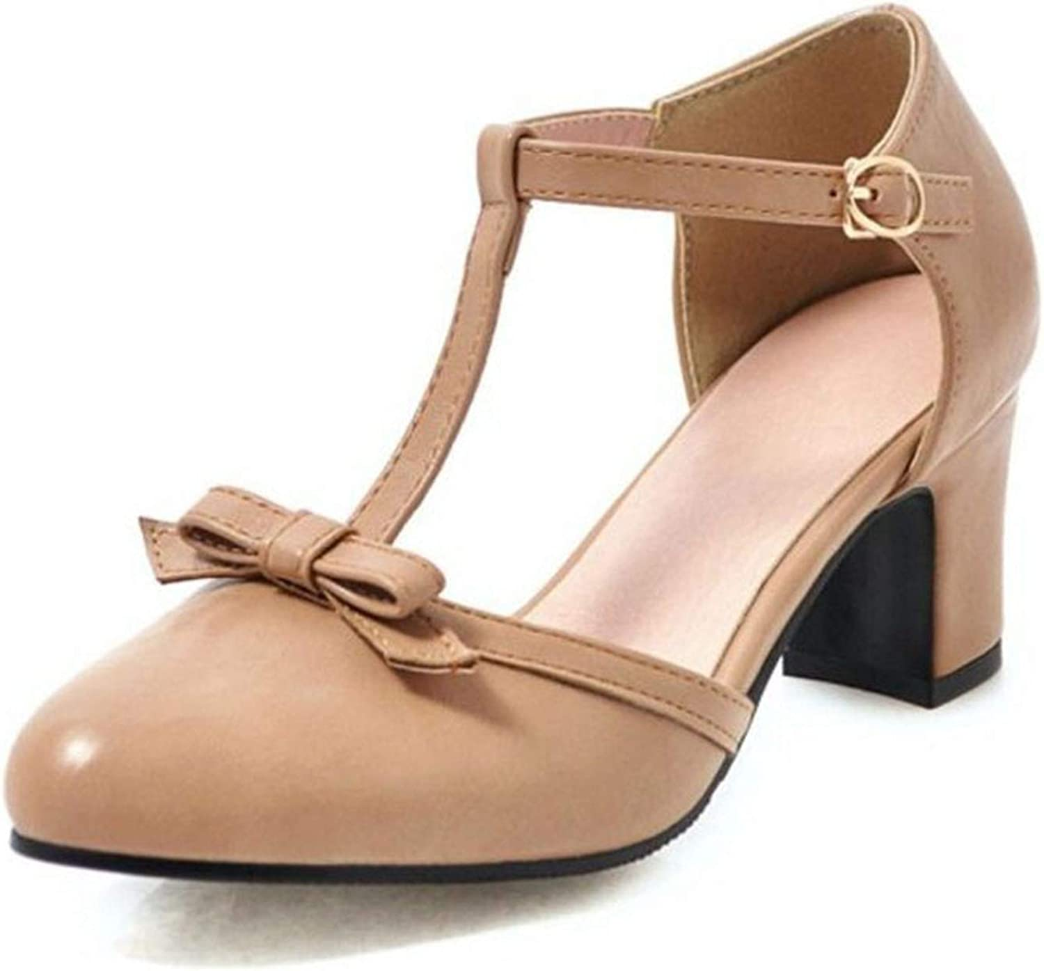 Bowknot Sweet Party Youngs shoes Women Ladies Wedding Dating Square Heels Sandals Summer shoes