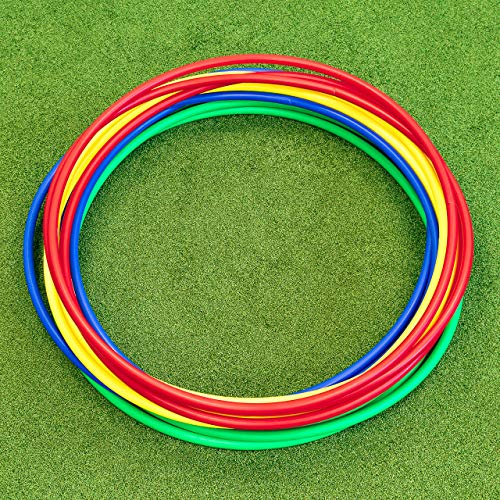 METIS Hula Hoops – Fitness amp Dance and Exercise | 6 or 12 Pack – Multiple Color Options | Hula Hoops for Kids amp Hula Hoops for Adults | Hula Hoop Weighted Pack of 6 18 Inches
