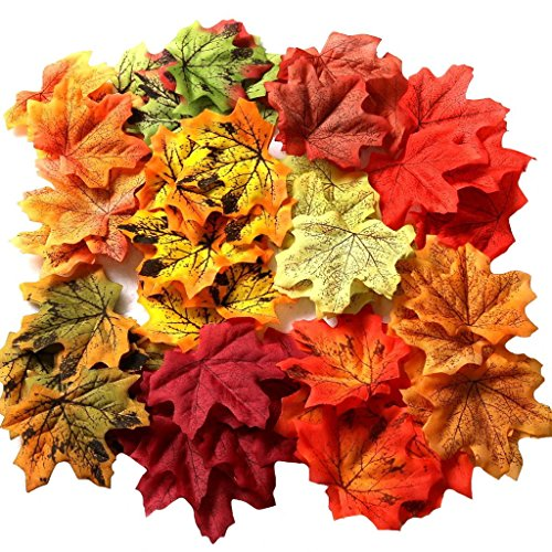 Gresorth 1000 PCS Falso Otoño Arce Hoja 10 Color Artificial Art Hojas Boda Fiesta Decoración