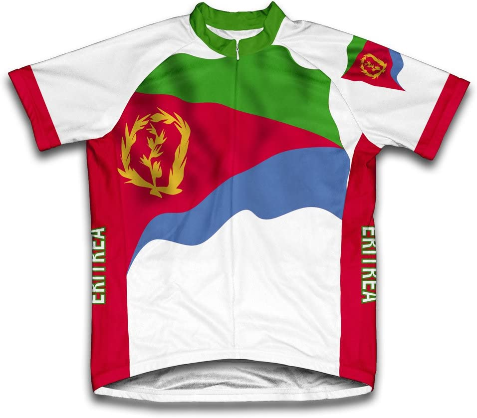 favorite cheap ScudoPro Eritrea Flag Short Sleeve Men for Jersey Cycling