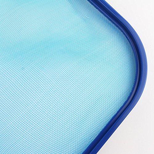 Sunnyglade Swimming Pool Cleaner Supplies/Professional Heavy Duty Pool Leaf Rake Fine Mesh Frame Net/Swimming Pool Cleaning Leaf Skim Net (Blue)