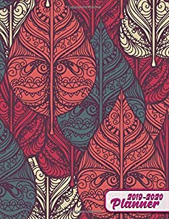 2019-2020 Planner: Cute Tribal Leaf Floral Daily Weekly Monthly Two Year Planner. Pretty Agenda & Organizer with Inspirational Quotes, Notes, To-Do's and More. (2019-2020 Planners)
