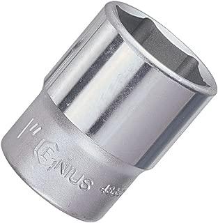 Genius Tools 483821 1/2 Dr. 21/32 Hand Socket