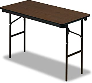 Iceberg ICE55304 Economy Wood Laminate Folding Table with Brown Steel Legs, 24