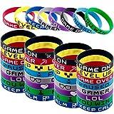 SIQUK 80 Pièces Bracelets en Silicone Bracelets pour Enfants Adolescents pour Thème du Jeu Vidéo...