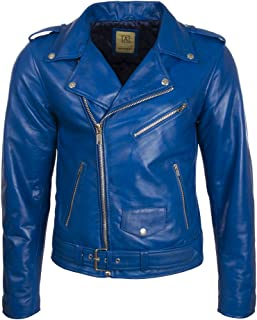 new styles 5beb2 3bfc0 Amazon.it: Giacca Pelle Blu
