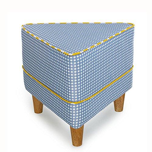 ZXQZ Tabouret en Bois Massif/Forme géométrique/Foyer changeant Son Tabouret de Chaussures/Tabouret créatif de Sofa de Tissu Repose-Pieds de Stockage (Couleur : D, Taille : 50 cm)