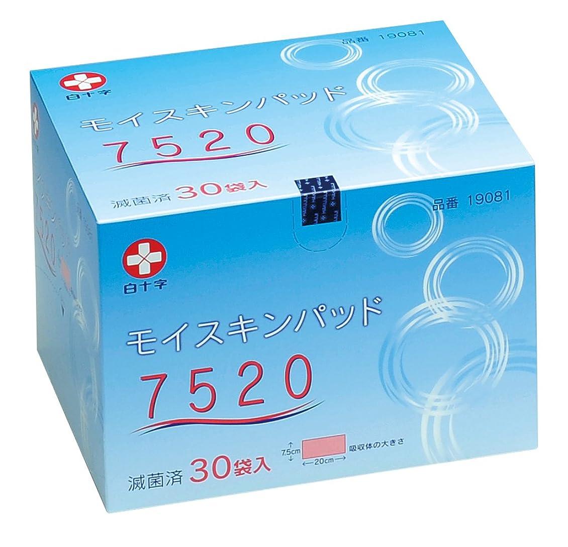 瞑想振り返るストレスの多い白十字 モイスキンパッド 75×200mm 30枚入