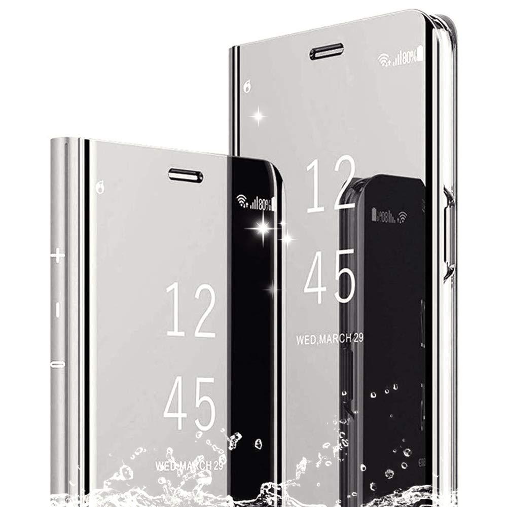 DAYNEW Funda para Xiaomi Mi 9 Lite Cáscara,Ultra Delgado Inteligente Espejo Funda[360° Protection][Soporte Plegable][Anti-Scratch] Flip Case Cover para Xiaomi Mi 9 Lite-Silver: Amazon.es: Electrónica