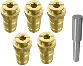 mistcooling Pool Cover Anchor with Tamping Tool - Brass Anchor for Pool Safety Cover - 5/8