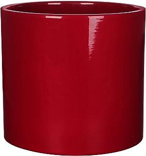 MICA Decorations Era Maceta Cerámica para Indoor, cerámica, cerámica, Rojo, 23 x 23 x 21.5 cm