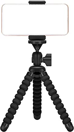 Ailun Digtal Camera Tripod,Tripod Mount/Stand,Camera Holder,Compatible with iPhone X/Xs/XR/Xs Max/8/7/7 Plus,6s,Digtal Camera,Galaxy s10s10 Plus S9+/S8/S7/S7 Edge,Camera and More[Black]