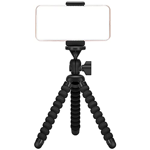 Ailun Phone Camera Tripod Mount/Stand,Compact Phone Holder,Compatible with Camera Galaxy s8/s9/s7/s7 Edge,Note8/9,Note5 More Camera&Cellphone[Black]
