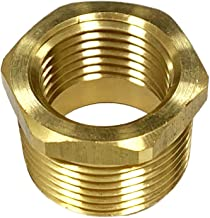 NIGO Brass Pipe Fitting, Hex Bushing (1 Pack, 1/2