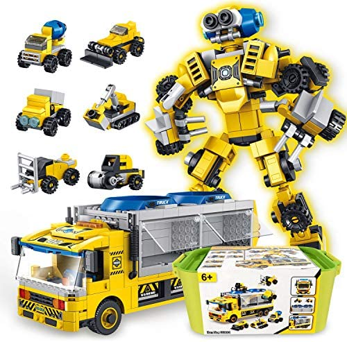 SUMXTECH STEM Toys Building Blocks Take Apart Toy Construction Robot Vehicles 6 in 1 Play Set product image
