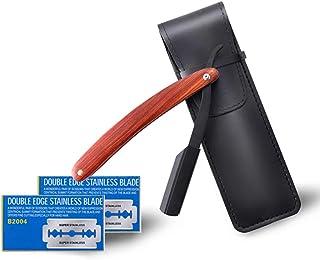 Navaja Afeitar Barbero + 20 Cuchillas de Acero Inoxidable,