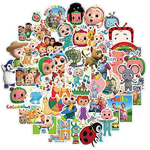 Turtle Story 10/30/50 pegatinas de dibujos animados para monopatín, refrigerador, portátil, motocicleta, viaje, equipaje, pegatinas para niños, juguetes JXNB (color 10 piezas de cocomelon)