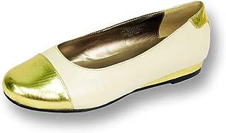FIC Patsy Women Wide Width Leather Flat for Casual or Fancy Attire