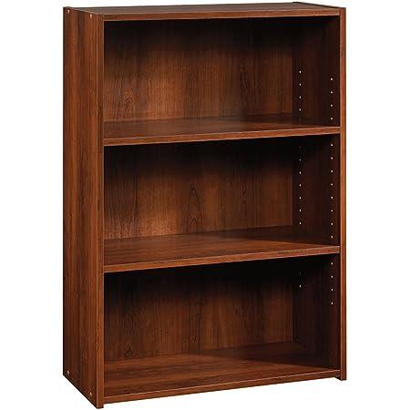 Sauder Beginnings 3-Shelf Bookcase, Brook Cherry finish