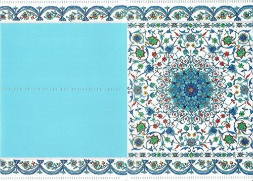 集彩苑 オリジナルクリアファイル おくすり手帳 (A6) サイズ 二つ折り (青群彩)