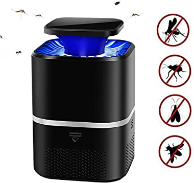 KYLYN 2020 Indoor Insect Trap Intelligent Control Fly Light Trap Mosquito Fly Trap LED Lamp,Electric Fly Bug Zapper Mosquito Lamp Pest Control (Black)