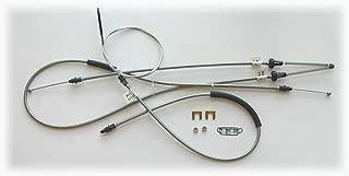 (A-4-1) Inline Tube Complete Parking Brake Cable Set Compatible with 1965-66 Mopar C-Body