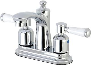 Kingston Brass FB7621DPL Paris 4-Inch Center set Lavatory Faucet with Retail Pop-Up, Polished Chrome