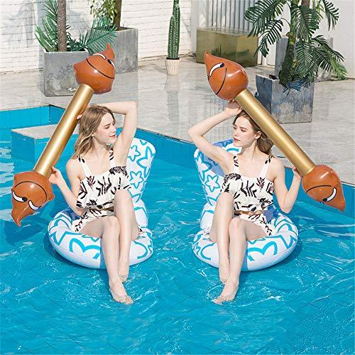 ZJDU Diseño De Forma De Asiento De Inodoro Juguetes Acuáticos Flotantes Inflables,Juguetes Inflables De Fila Flotante, para Niños Adultos para Flotar Juguetes,Blanco