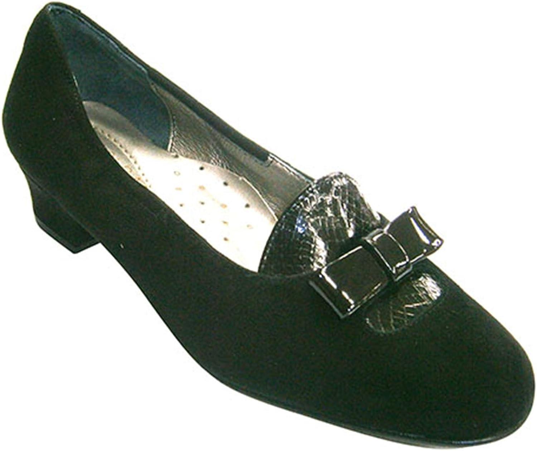 Roldan Schuhputzfrau, Bevor mit Lacklederklappe und Schleife kombiniert schwarz