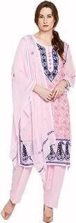 Castle Baby Pink Chikankari Emroidered Georgette Kurta Dupatta Palazzo Set