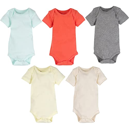 b881fb963 MiracleWear Cute Kid's Bodysuit Outfits (5 Pcs) Boy & Girl Daywear Solid  Color Clothing