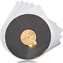Facmogu 100PCS LP Vinyl Record Inner Sleeves, 12 Inch Semi-Transparent Inner Plastic..