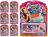 JA-RU Makeup Beauty Color Girl Professional Makeup (6 Sets) Great Party Favors Toys for Girls Makeup Brush Set Eyeshadow Palette 095-6p