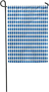 Carl McIsaacDoor Garden Flag Blue and White Plaid The Pattern for Food Chequered Checkered Home Yard House Decor Barnner Outdoor Stand 12x18 Inches Flag