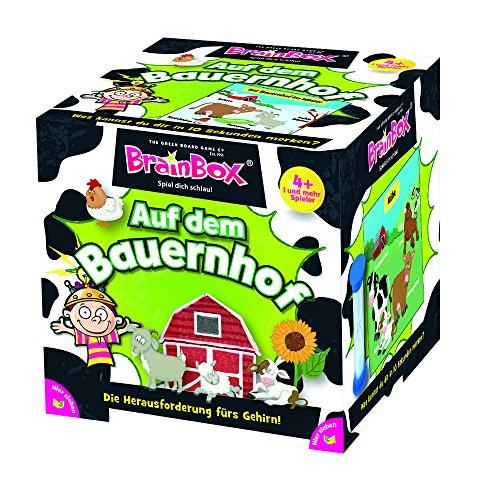 Brain Box 94911 Auf dem Bauernhof, Lernspiel, Quizspiel für Kinder ab 4 Jahren, bunt