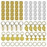 Ryalan 80 Pieces Hair Jewelry Rings Aluminum...
