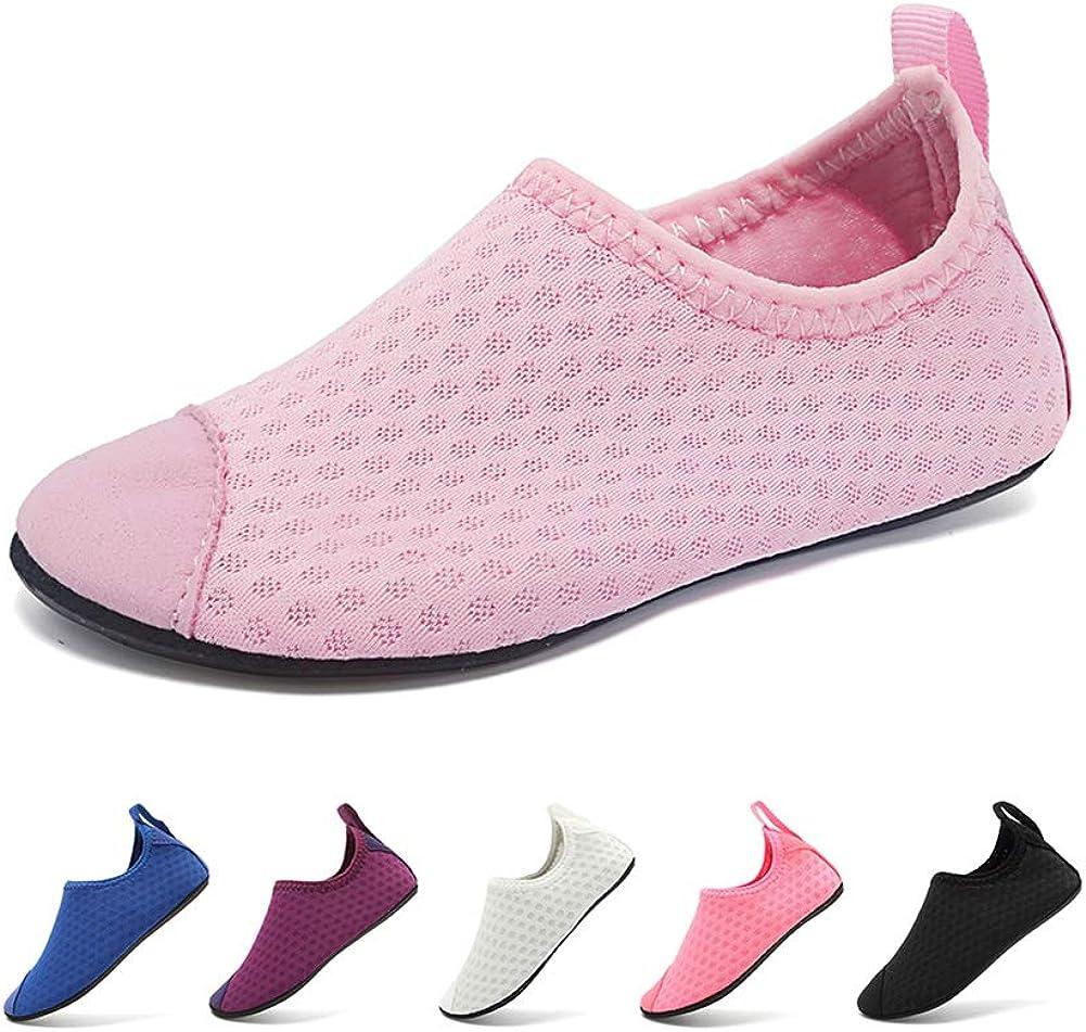 Coolloog Kids Swim Water Shoes Boys Girls Toddler Quick Dry Non-Slip Barefoot Aqua Socks for Pool Beach Sports