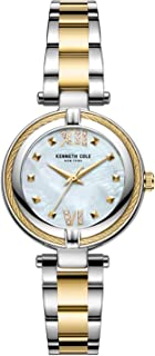 Kenneth Cole Women's Classic Mop Crystalized Steel KC51052004 Gold Stainless-Steel Quartz Dress Watch
