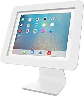 iPad Security Lockable Stand by Maclocks - All-in-One Enclosure with Screen Rotating, Reverse & Tilt. iPad & iPad Air Compatible Lock. Color: White. (AIO-W)