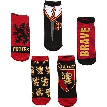 Harry Potter House & Uniform 5-packs Adult No-show Socks