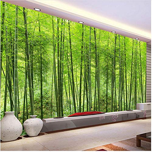 Xbwy Mural Decorativo Vinilo Bosque De Bambú Paisaje Natural Fotomural Papel Tapiz Sala De Estar Estudio Configuración Habitación...
