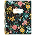 "2020-2021 Student Planner - Academic Weekly & Monthly Planner with Marked Tabs, 8.5"" x 11"", July 2020 - June 2021, Twin-Wire Binding, 2 Ruled Pages, Map & Time Zone, Variety Stickers, Blooming Flowers"