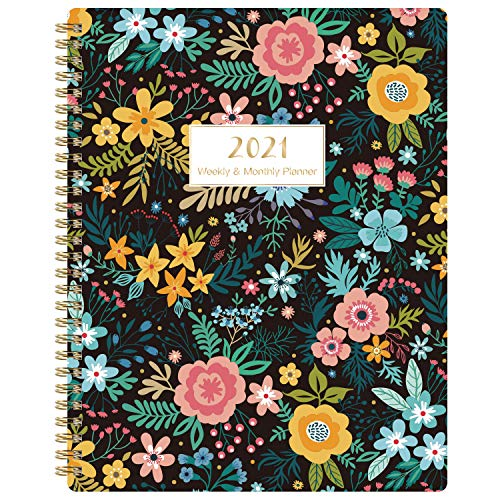 """2021 Planner - Weekly & Monthly Planner 7.8""""x 9.7"""", Jan 2021 - Dec 2021, Flexible Cover, to-Do List, Twin-Wire Binding"""