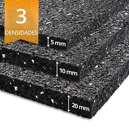etm Alfombra Lavadora - Alfombrilla antivibración | Suelo Lavadora Ultra Resistente | Goma granulada | Aislante de Ruido y Movimiento | 3 densidades (100x125 cm)