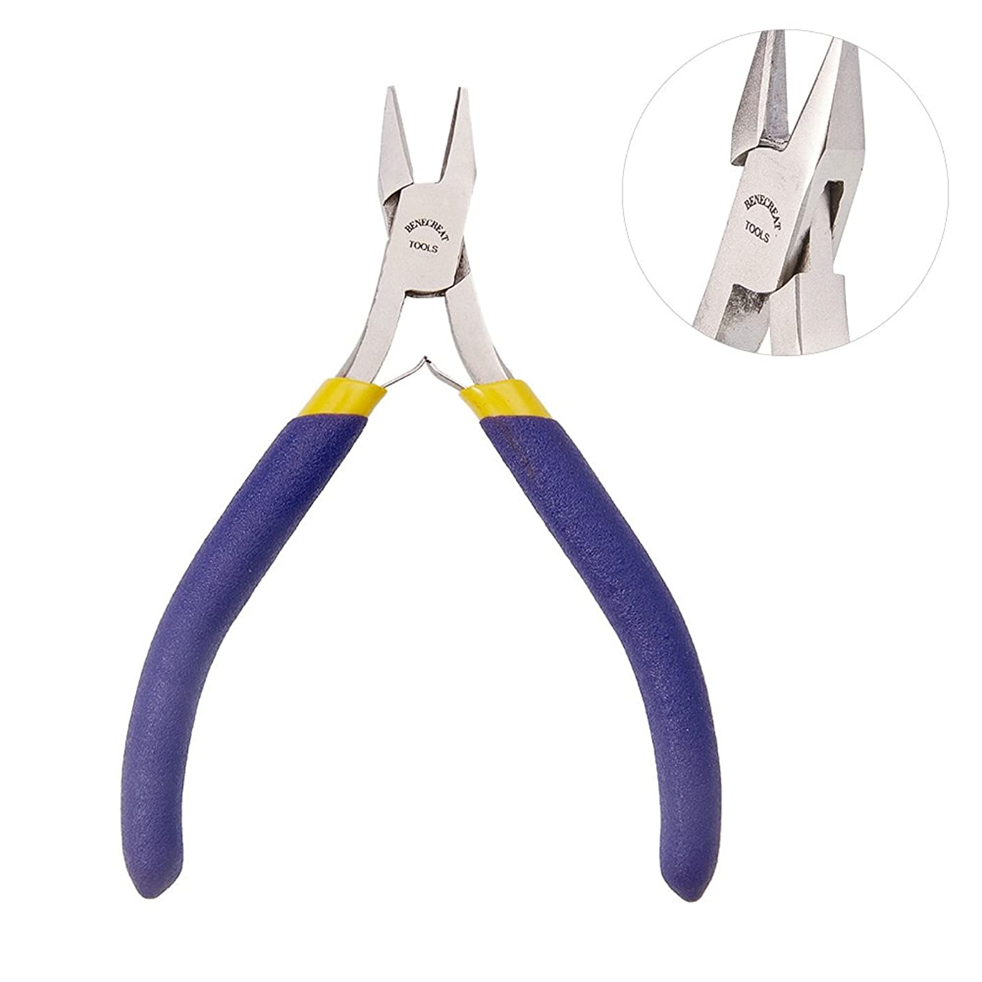 BENECREAT 4.2 Inch Side Cutting Pliers Jewelry Plier, Craft and Jewelry Tool Kit (Box Joint Construction)